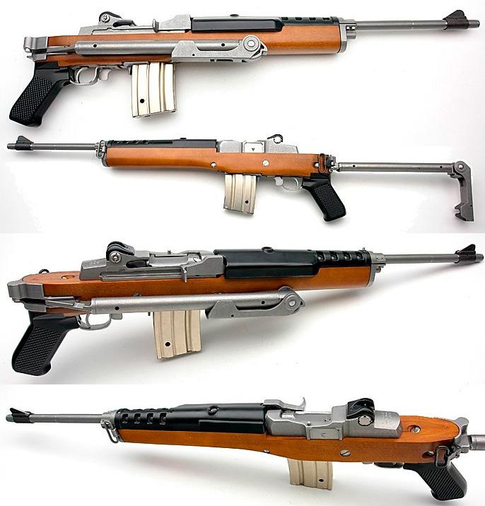 Производное от винтовки Ruger Mini-14 - автомат АС-556. Как видим, с дизайном внешнего вида своих изделий, разработчики не заморачивались.