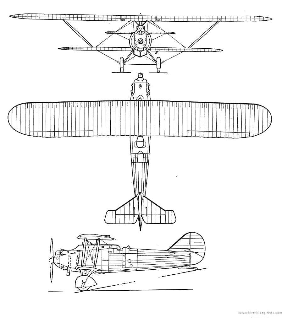Чертеж разведывательного самолета «Breguet-19»
