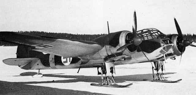Бристоль «Бленхейм» Mk.I финских ВВС на лыжном шасси