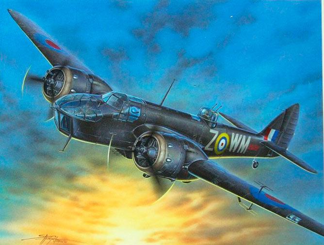 Бристоль «Бленхейм» Mk.IV - бомбардировщик самой распространенной серии.