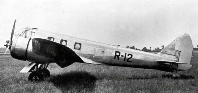 Прототип бомбардировщика Бристоль «Бленхейм», гражданский 6-8 местный самолет «Бристоль»-142