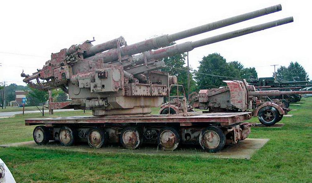 Сдвоенная установка 128-мм зенитной пушки FlaK-40 обр. 1941 г. («Zwilling»)