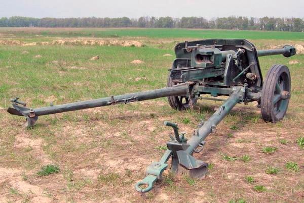 75-мм противотанковая пушка PaK-40 обр. 1939 г., вид сзади