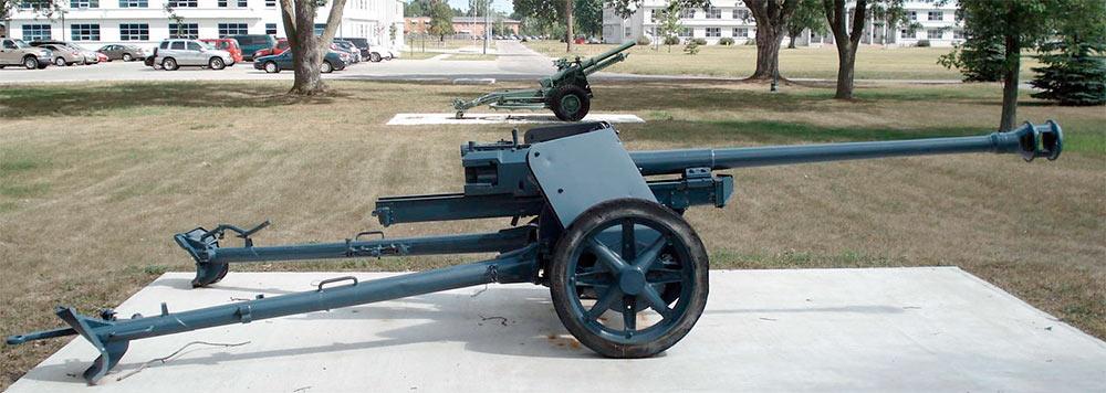 75-мм противотанковая пушка PaK-40 обр. 1939 г., вид сбоку
