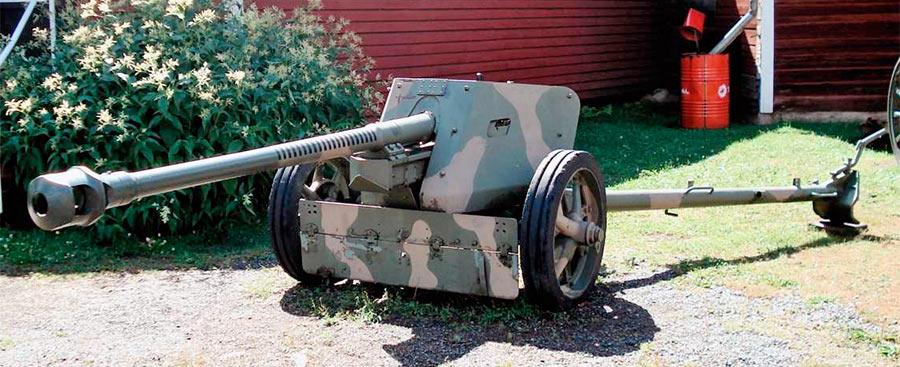 Немецкая 75-мм противотанковая пушка PaK-40 обр. 1939 г.