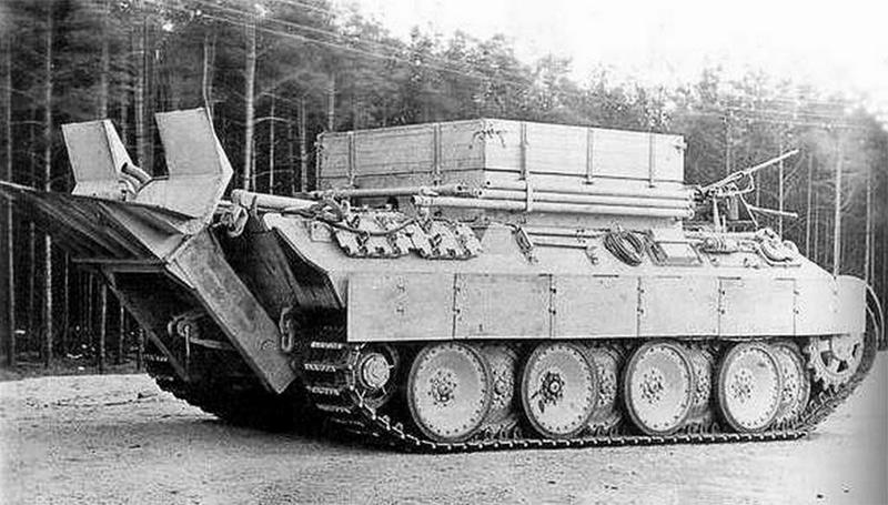 Немецкая тяжелая БРЭМ Bergepanther (Бергепантера) Sd.Kfz.179