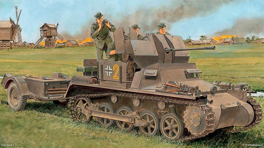 Немецкий зенитный танк «FlakPanzer»-I
