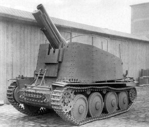 Sd.Kfz. 138/1 «Grille» aust H первых выпусков