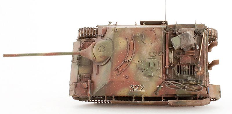 Истребитель танков Jagdpanzer IV, вид сверху (модель)