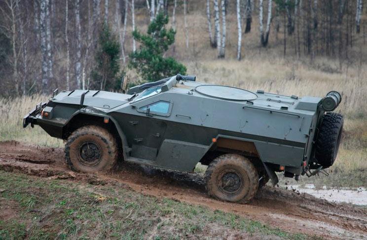 Бронеавтомобиль КамАЗ-43269 «Выстрел» (БМП-97) на испытания. Вооружение не установлено