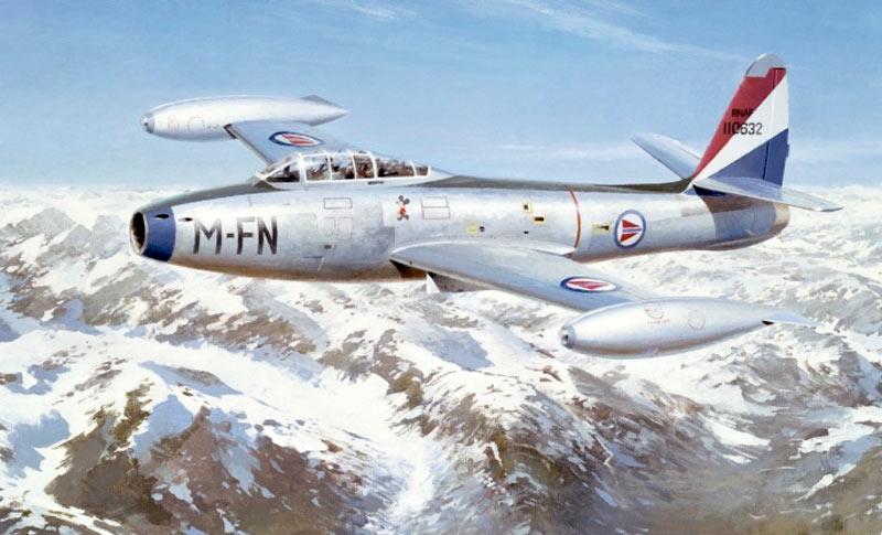Истребитель Рипаблик F-84 (P-84) «Thunderjet»