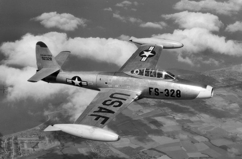 Американский истребитель первой половины 1950-х г.г., F-84 «Тандерджек»