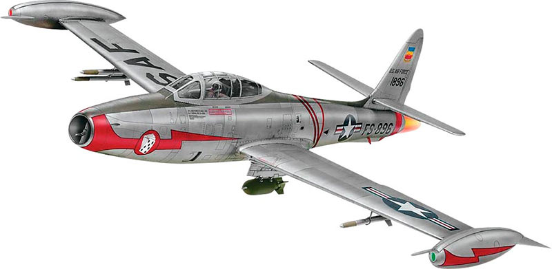 Чисто с эстетической точки зрения, истребитель F-84 «Тандерджет» - настоящий красавчик.