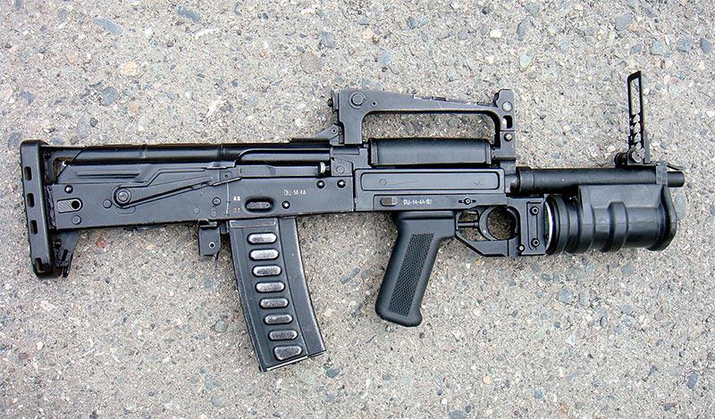 Штурмовой автомат с подствольным гранатометом (ОЦ-14-4А).