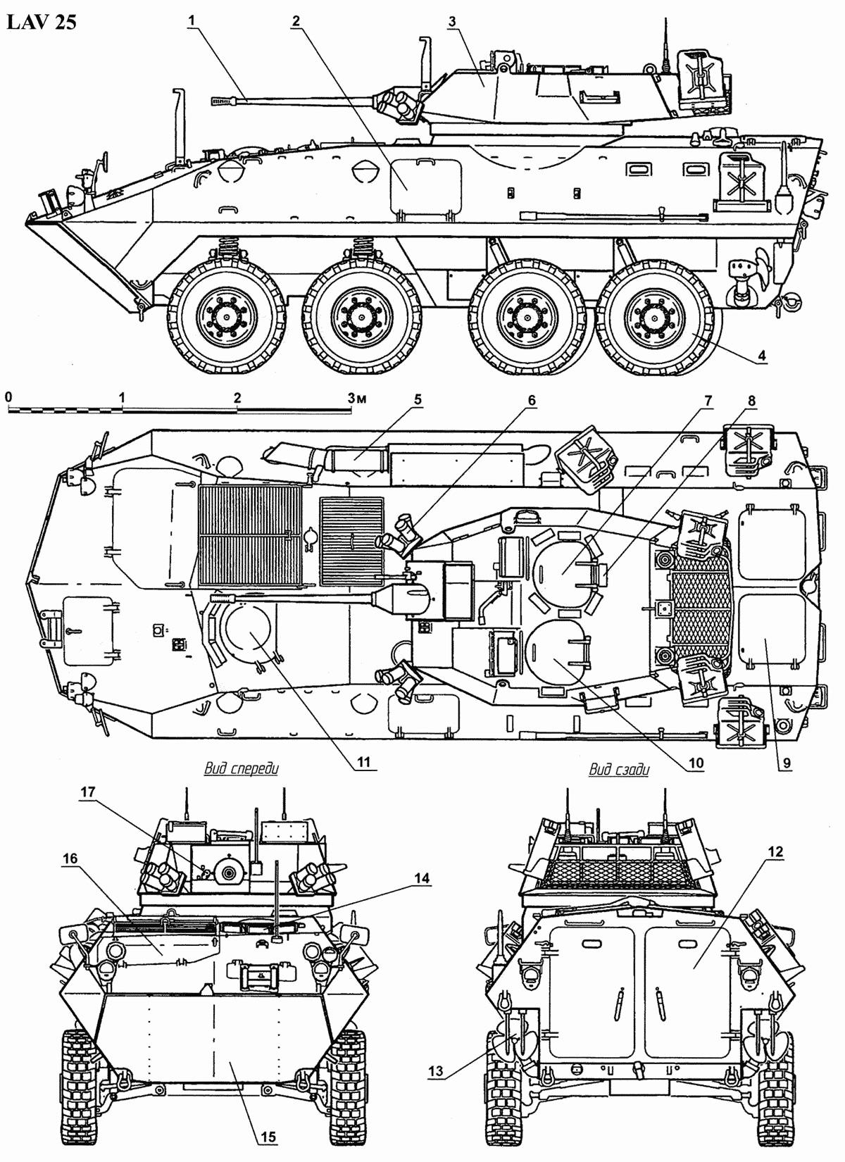 Чертеж боевой машины LAV-25
