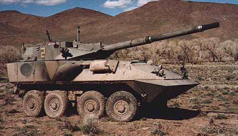 Колесный танк LAV-AG/LAV-105
