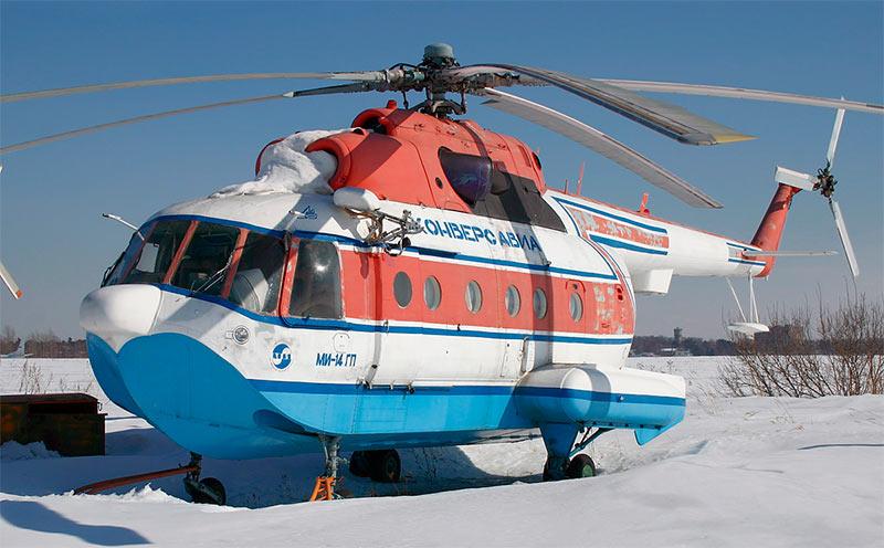 Грузо-пассажирский вертолет-амфибия Ми-14ГП
