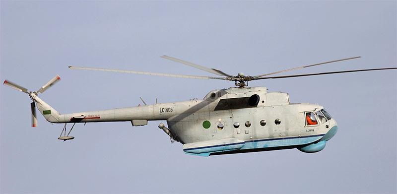 Ми-14 в полете. С этого ракурса вертолет-амфибия выглядит как самый обычный Ми-8.