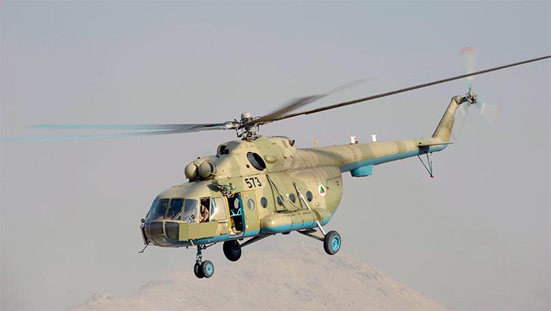 Многоцелевой вертолет Ми-17 вооруженных сил Афганистана