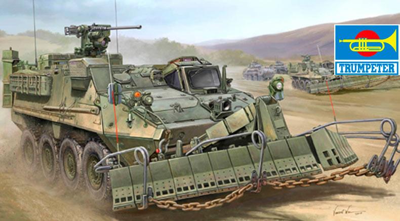 Бронемашина «Stryker» M1132 ESV, в варианте легкой инженерной машины подразделения