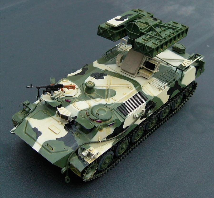 Модель боевой машины с ЗРК «Стрела-10» 9К35. Вид сверху