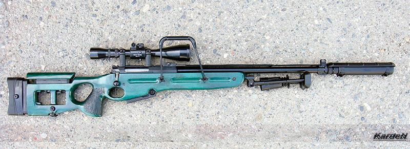 Cнайперская винтовка СВ-98, с правой стороны видна ручка для переноски