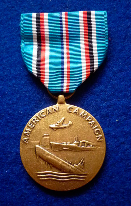 """Медаль """"За участие в американской кампании"""" (American campaign Medal)"""