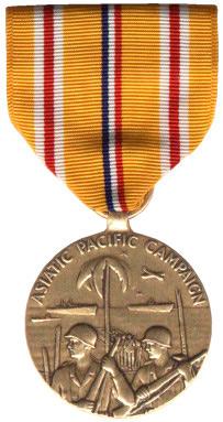 """Медаль """"За участие в азиатско-тихоокеанской кампании"""" (Asiatic-Pacific-Campaign Medal)"""