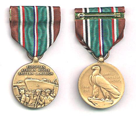 """Медаль """"За участие в европейско-африканско-средневосточной кампании"""" (European-African-Middle Eastern Campaign Medal)"""