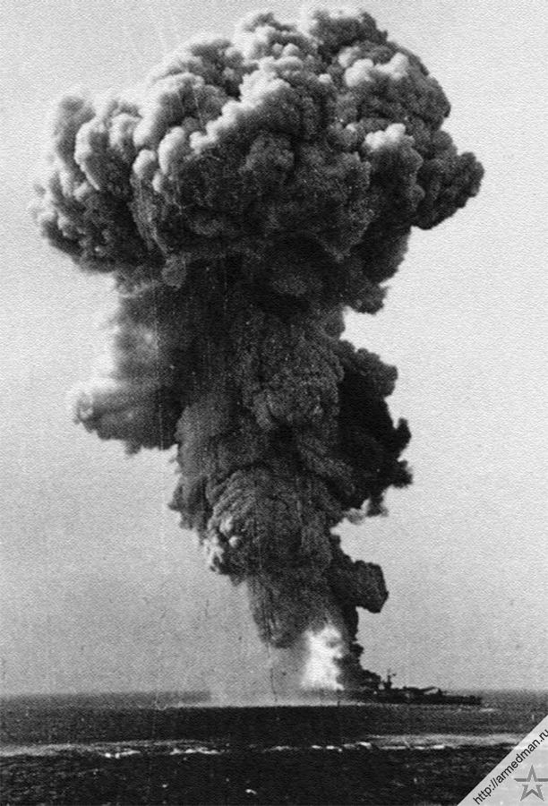 Взрыв 700 тонн боезапаса линкора «Рома» стоил жизни более чем тысяче человек из команды