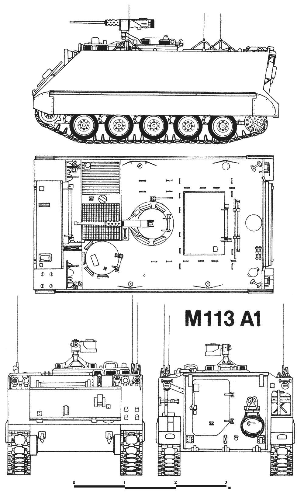 Чертеж бронетранспортера M113