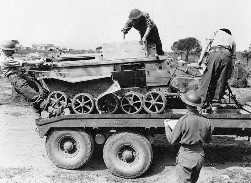 Трофейная немецкая радиоуправляемая танкетка B-4