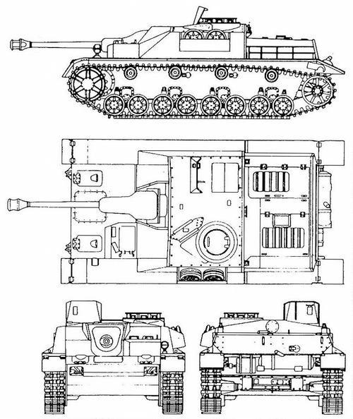 Чертеж штурмового орудия StuG IV