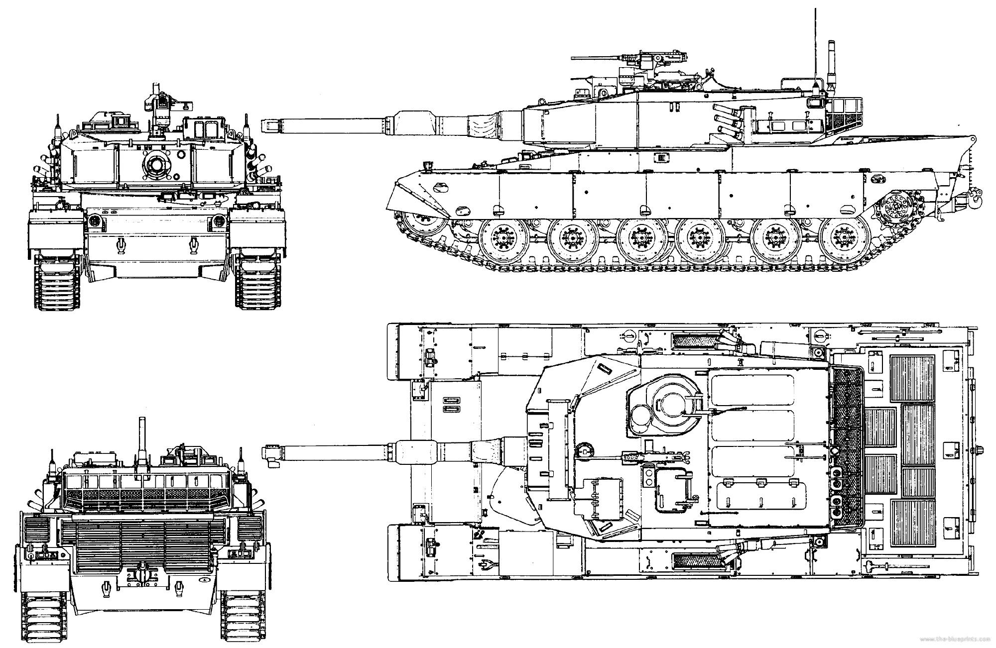 Чертеж основного боевого танка «Тип 90»