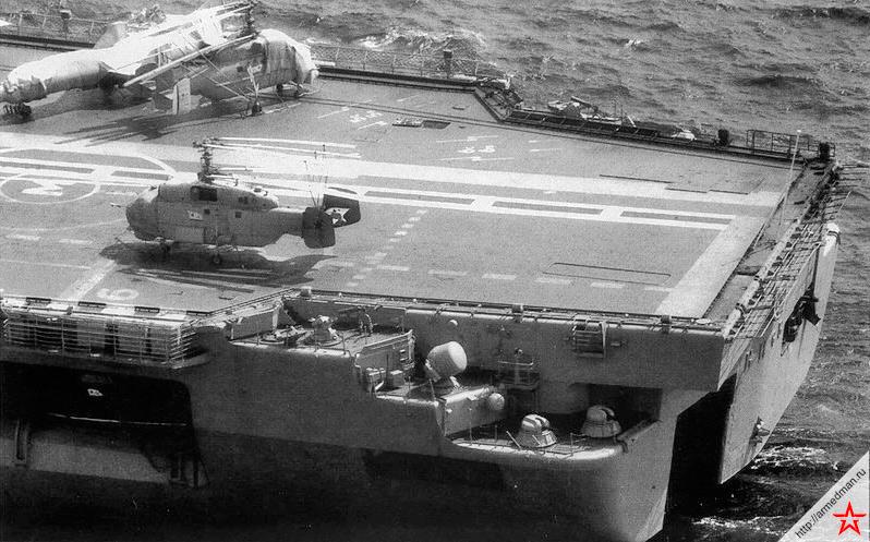 Противолодочные вертолеты Ка-25 также как и штурмовики Як-38 входили в авиакрыло всех советских тяжелых авианесущих крейсеров