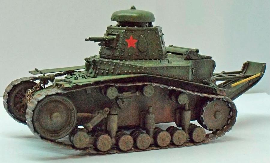 Малый танк сопровождения Т-18 - влияние FT-17 все ещё чувствуется, однако, машина уже целиком советская