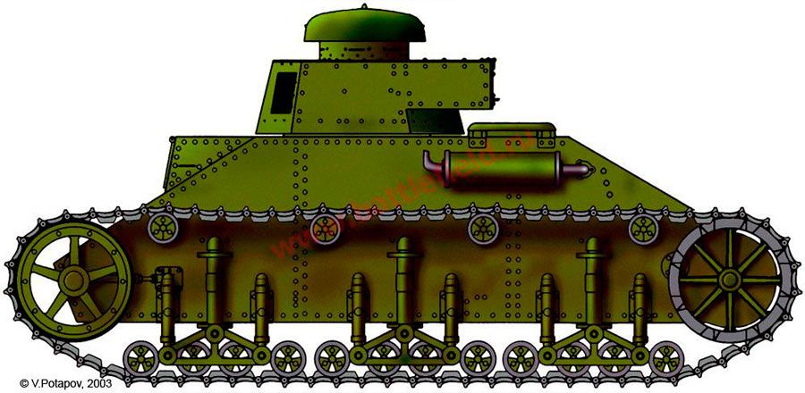 Не окажись под рукой уже готового «Виккерса», возможно основу танковых сил СССР составляли бы танки Т-19