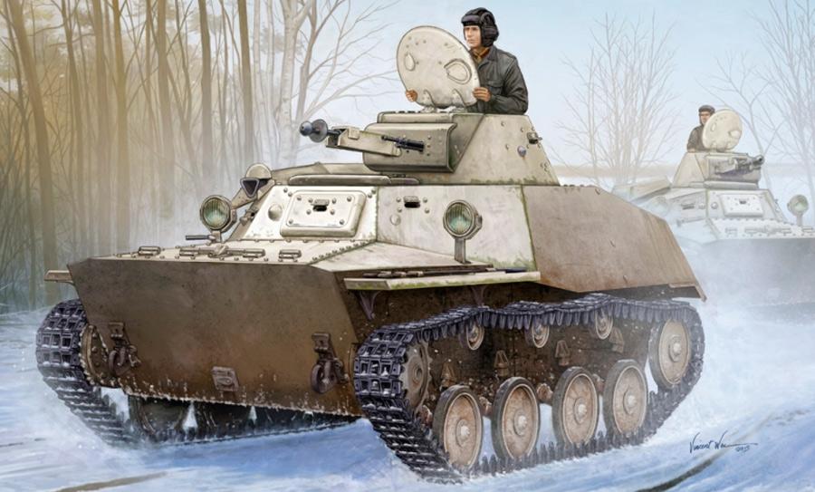 Легкий танк Т-40 в качестве «главного калибра» использовал зенитный 12,7-мм пулемет ДШК