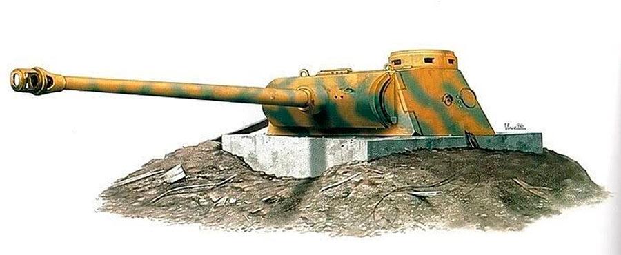 Общий вид ДОТ с башней от танка Pz. V «Пантера»