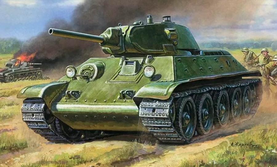 Т-34 образца 1940 года, больше известный как Т-34-76.