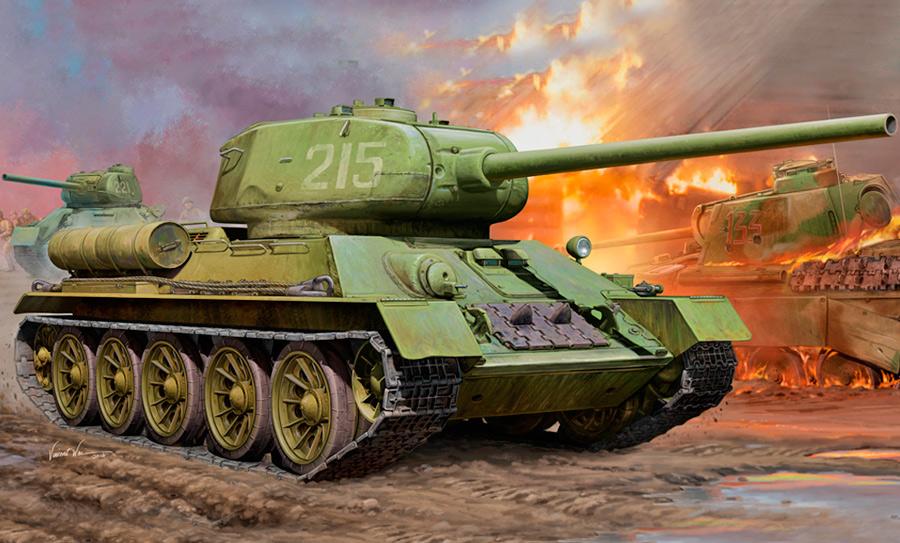 Т-34-85 конечно не мог бороться с «Тиграми» и «Пантерами» на равных, но вполне мог дать сдачи,