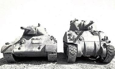 испытания танка Т-34 на Абердинском испытательном полигоне в США, в годы Второй Мировой войны