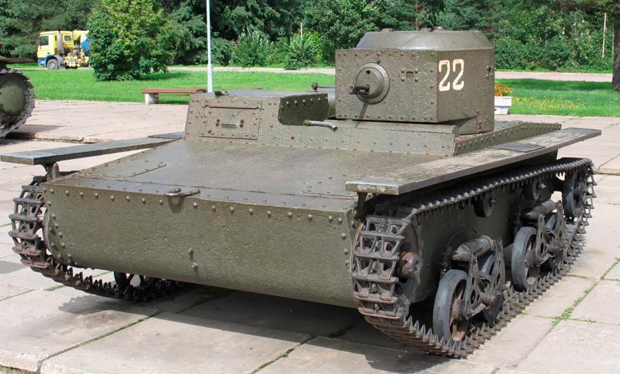 Плавающий танк Т-38 ни за что не спутаешь ни с одним другим