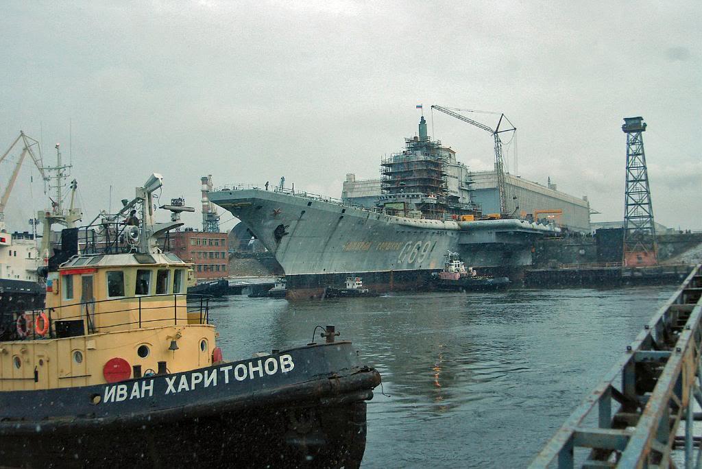 Начало работ по модернизации ТАКР «Адмирал Горшков»