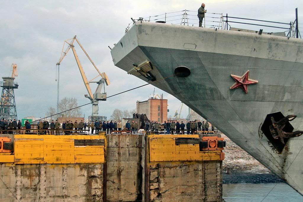 Носовая часть ТАКР «Адмирал Горшков»  перед модернизацией