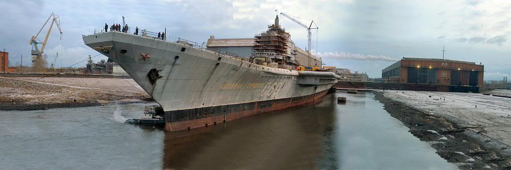 «Адмирал Горшков» у причальной стенки. Состояние корпуса красноречиво свидетельствует о том насколько нужен был стране этот корабль