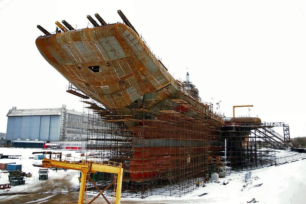 Постройка авианосца «Викрамадитья» в Северодвинске