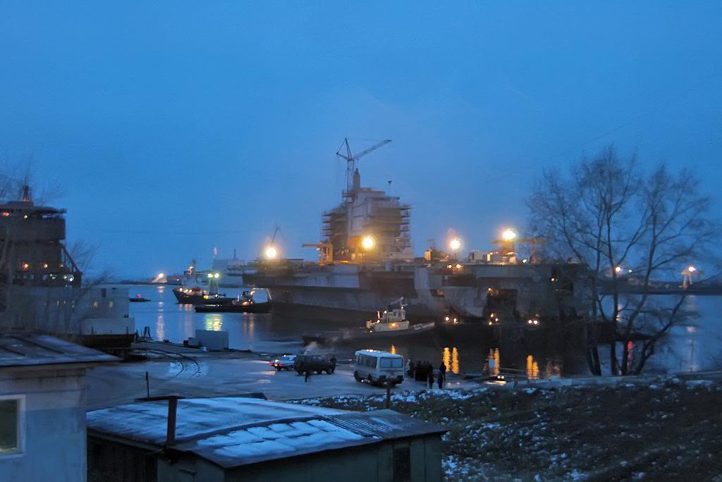 Подготовительные работы по модернизации ТАКР «Адмирал Горшков»
