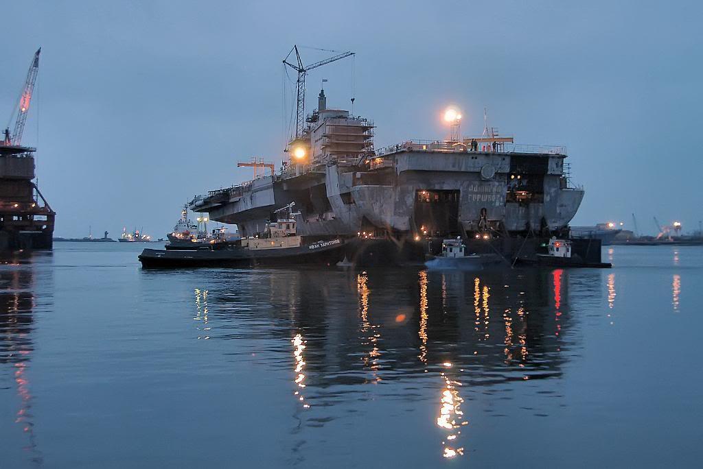 авианесущий крейсер «Адмирал Горшков» перед перестройкой