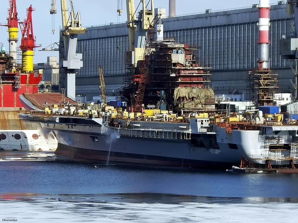 Корпус  «Викрамадитья» уже собран, осталась «начинка» корабля и палубное оборудование